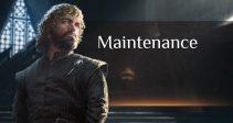 September 27 – Maintenance!